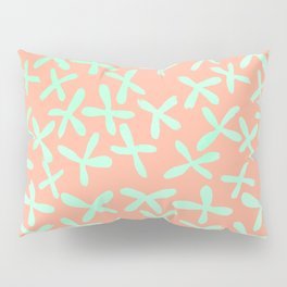 Sweet Life Firefly Peach Coral + Mint Meringue Pillow Sham