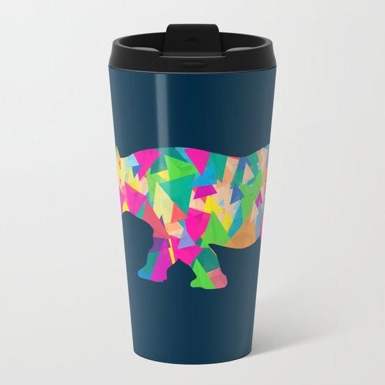 Abstract Rhino Metal Travel Mug