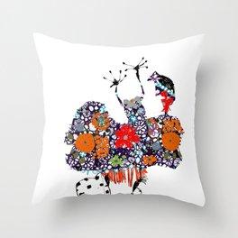 Imaginary friend! Throw Pillow