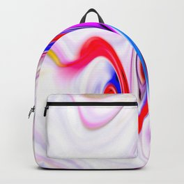 Waves and swirls, abstract, patterns piece no 12 Backpack