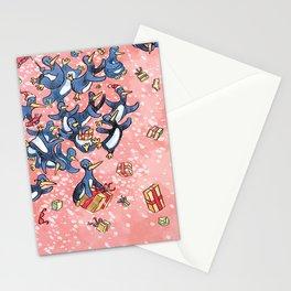 Crazy Penguin Christmas Stationery Cards