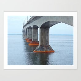 Under the Bridge in PEI Art Print