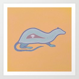 Diamond Rat Art Print