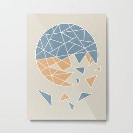 DISASTER (abstract geometric) Metal Print