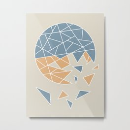 DISASTER (abstract geometric) Metal Print