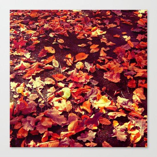 autumn path abstract I Canvas Print
