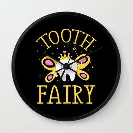 Cute Tooth Fairy Wall Clock