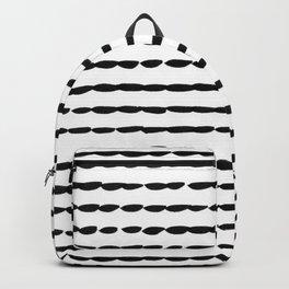 Black Ink Brush Dash Lines Backpack