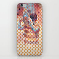 third eye iPhone & iPod Skins featuring Third eye by Cristian Blanxer