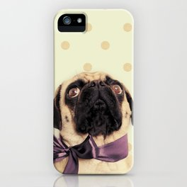 Polka Dot Pug iPhone Case
