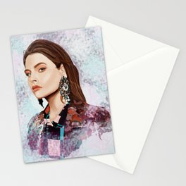 Fashion portrait Stationery Cards