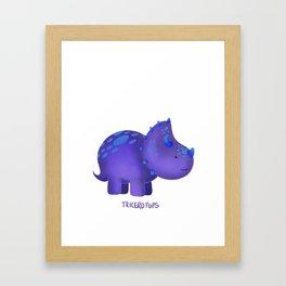 Tricerotops Framed Art Print