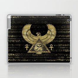 Egyptian Eye of Horus - Wadjet Gold and Black Laptop & iPad Skin