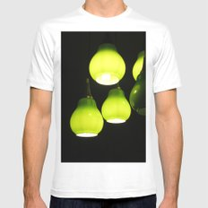 Green Lamps MEDIUM Mens Fitted Tee White