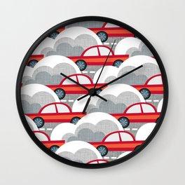 Papercut Cars Wall Clock