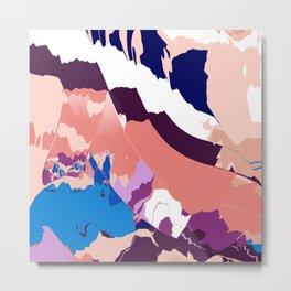 Blue bunny Meadows Metal Print