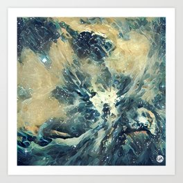 ALTERED Sharpest View of Orion Nebula Art Print