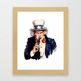 Uncle Sham Framed Art Print