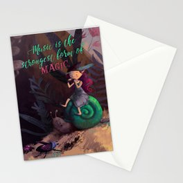 Pixie forest concert Stationery Cards