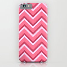 Pink Zig Zag Pattern Slim Case iPhone 6s