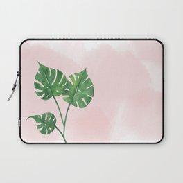 Watercolor tropical leaf Laptop Sleeve