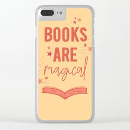 Books are Magical Clear iPhone Case