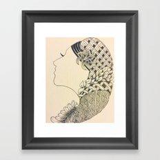 String of Hair Framed Art Print