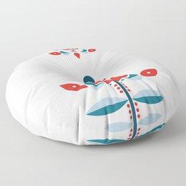 Retro No   2 Floor Pillow