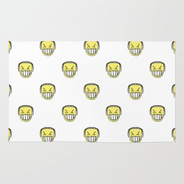 Angry Emoji Graphic Pattern Rug