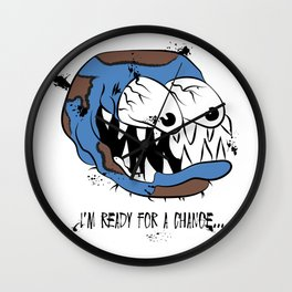 I'm Ready for a Change: Climate Change Illustration Wall Clock