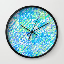 Blue Green Delight (Squares) Wall Clock