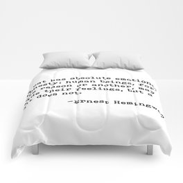 A cat... Ernest Hemingway Comforters