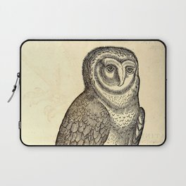 Antique Barn Owl Laptop Sleeve