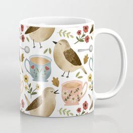 Birds, Teacups, and Flowers Coffee Mug