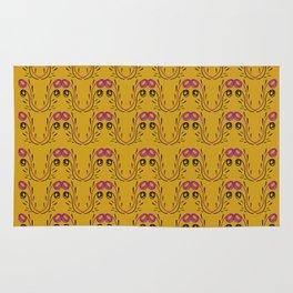 Luxury gold mandalas ethnic Rug