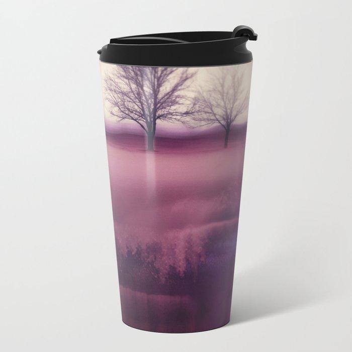Winter Plum Metal Travel Mug