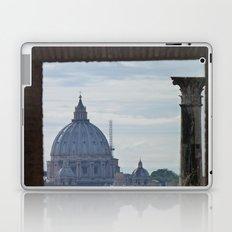 Saint Peter's Basilica framed by Domus Augustea Laptop & iPad Skin