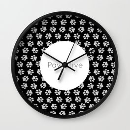 Pawsitive Paws - dog lover animals pattern Wall Clock