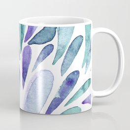 Watercolor artistic drops - purple and turquoise Coffee Mug