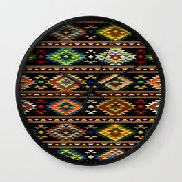 American Indian seamless pattern Wall Clock