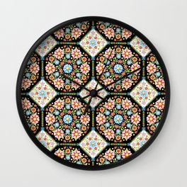 Millefiori Tile Pattern Wall Clock