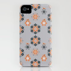 Retro flowers Slim Case iPhone (4, 4s)
