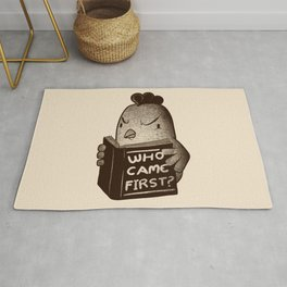 Chicken Who Came First Rug