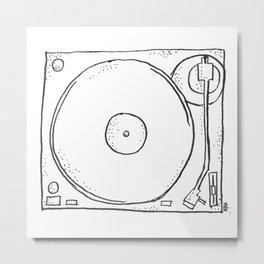 recordplayer Metal Print