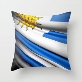 Flag of Uruguay Throw Pillow