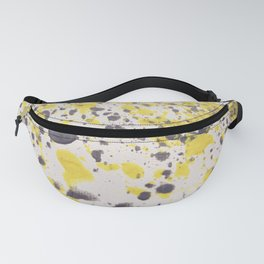 Yellow Grey Classic Abstract Art Fanny Pack