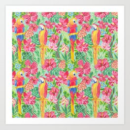 Land Of The Giant Hibiscus Art Print