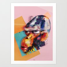 old monkey Art Print