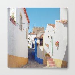 Portugal, Obidos (RR 184) Analog 6x6 odak Ektar 100 Metal Print