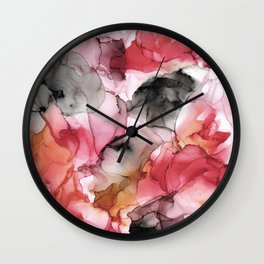 Abstract Colorful Autumn Painting Wall Clock